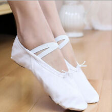 Children Adult Split Sole Canvas Ballet Dance Shoes Pointe Slippers Size 24-45