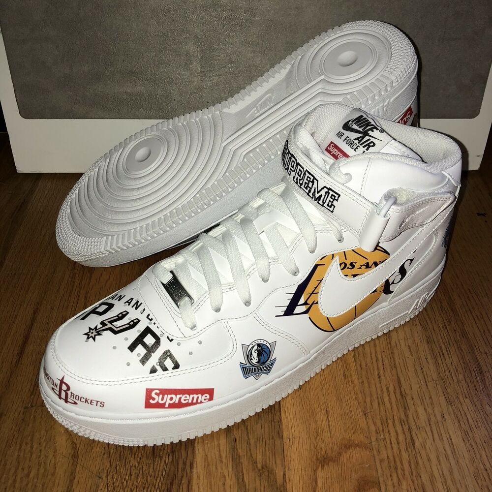 Details about Supreme Nike NBA Teams Air Force 1 Mid White Mens Size 13 New  DS Authentic 482194a29a6e