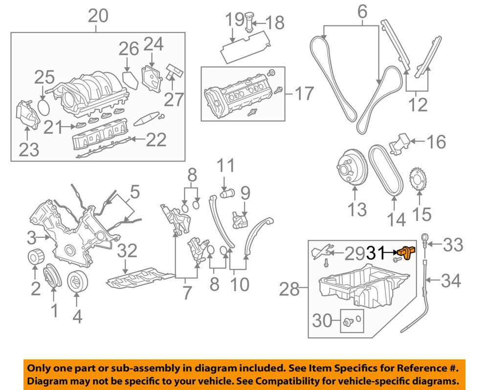 LAND ROVER OEM 05-09 LR3-Engine Crankshaft Crank Position Sensor CPS  NSC500160 | eBay