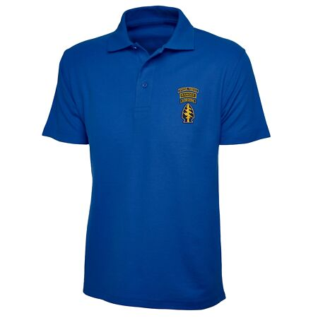 img-Ranger Airborne Polo Shirt, Us Army Special Forces Inspired Embroidered Polo Top