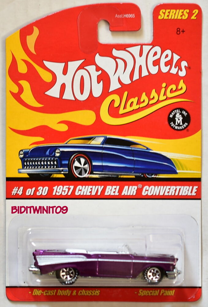Hot Wheels Classics Series 2 1957 Chevy Bel Air Convertible Purple