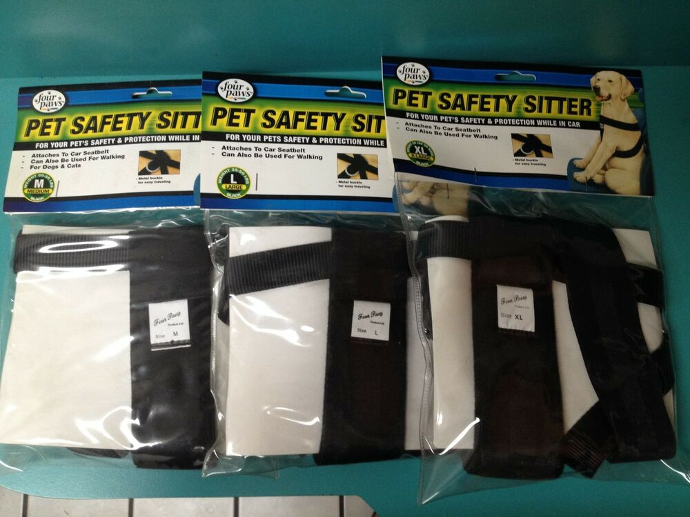 Four Paws Black Car Safety Dog Harness See Description For Size Chart Ebay