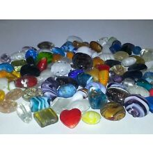 Wholesale Mixed Handmade Lampwork Glass Loose Beads Heart Oval Round Mix 15PCS.