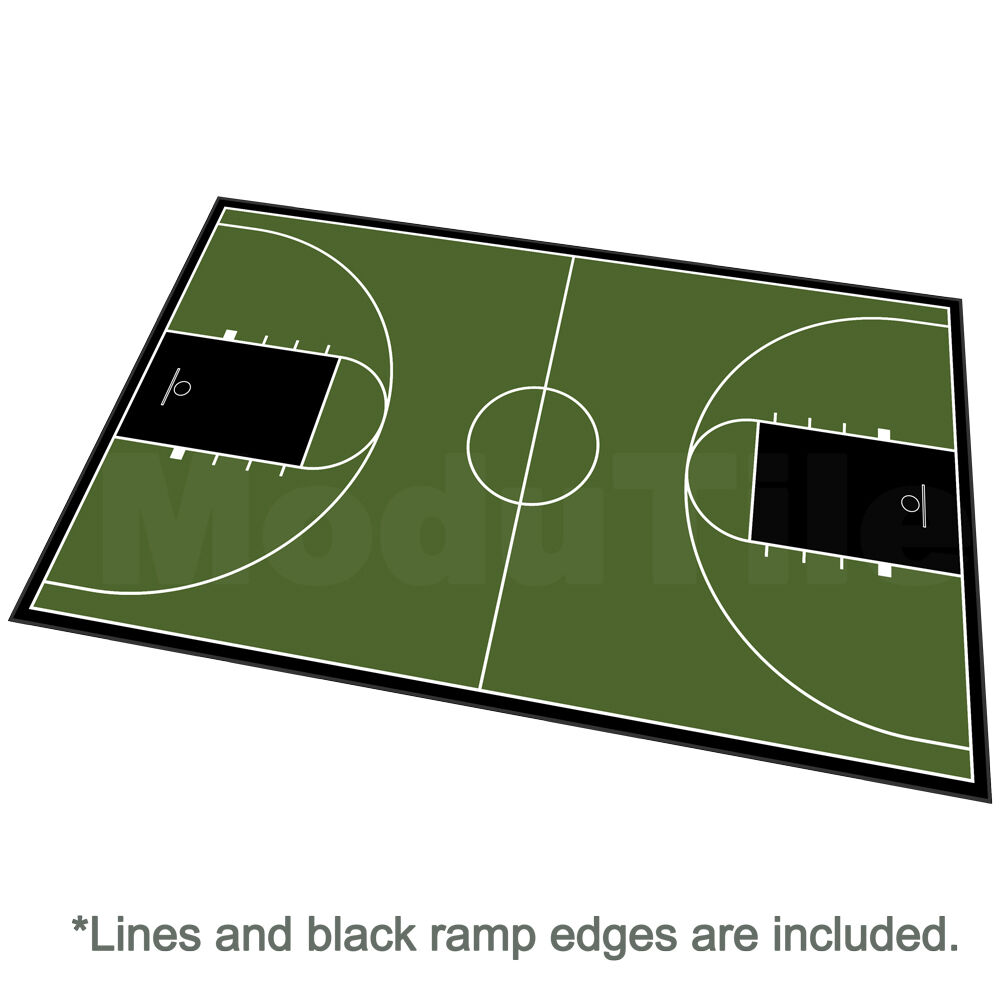 46ft X 78ft Outdoor Basketball Full Court Kit-Lines And