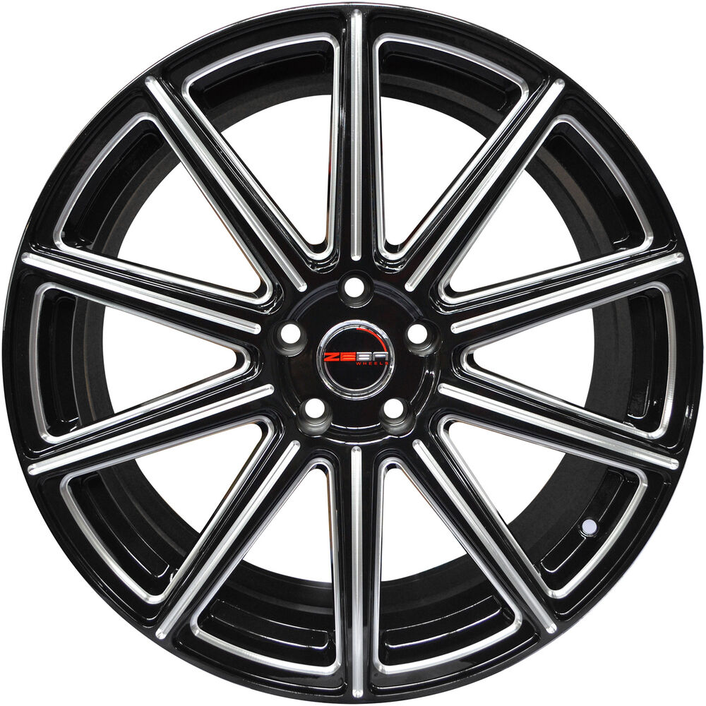 Acura Tl 08 Type S: 4 GWG WHEELS 20 Inch Black With Mill MOD Rims ACURA TL