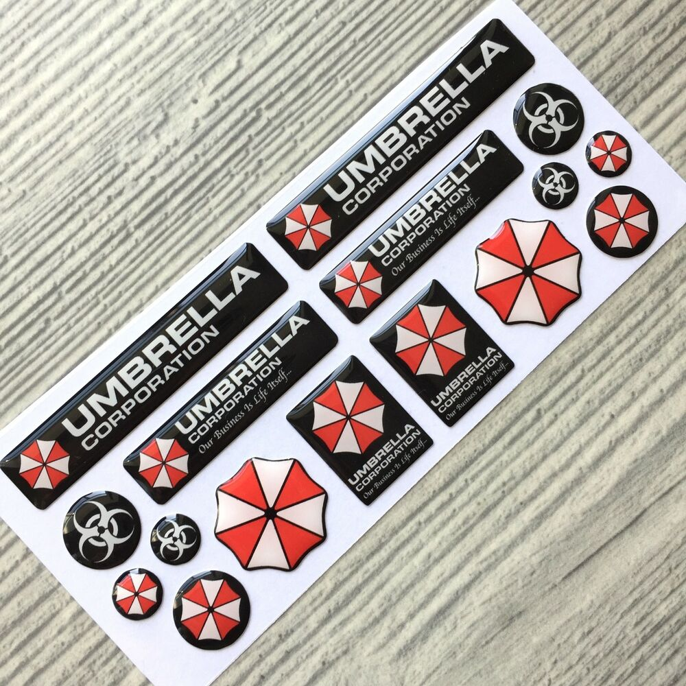 Umbrella Corporation Resident Evil 3d Domed Emblem Decal