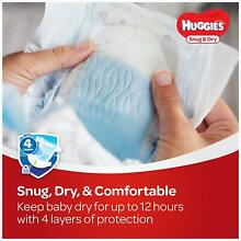 Huggies Snug & Dry Baby Diapers Disposable Diapers Size 1 2 3 4 5 6
