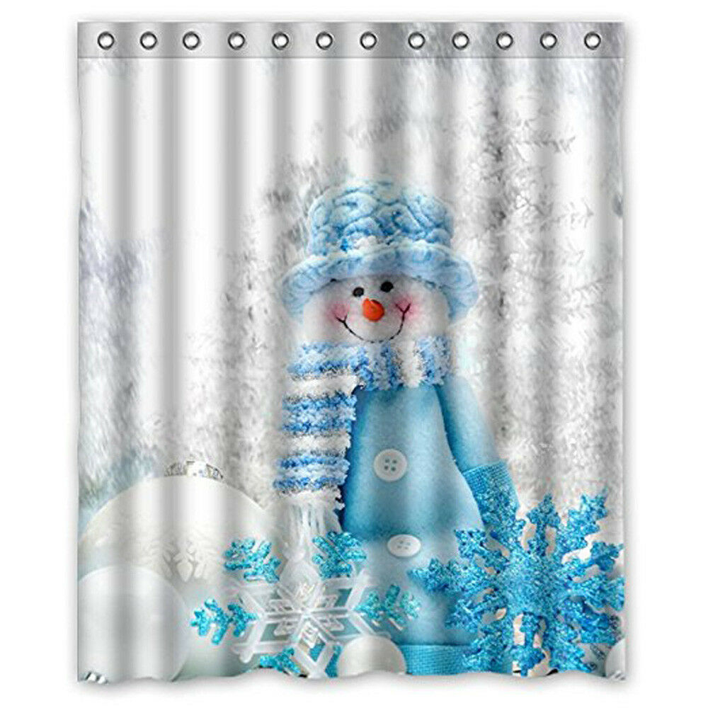 Details About Hot Custom Merry Christmas Fabric Waterproof Bathroom Shower Curtain 60 X 72inch