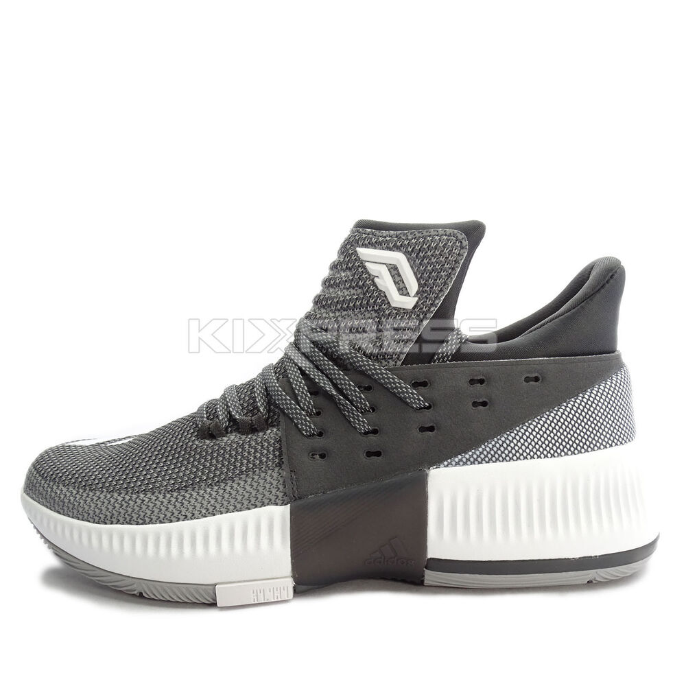 Details about Adidas D Lillard 3  BY3207  Men Basketball Shoes Damian Black  Grey-White 3f87ddd7c