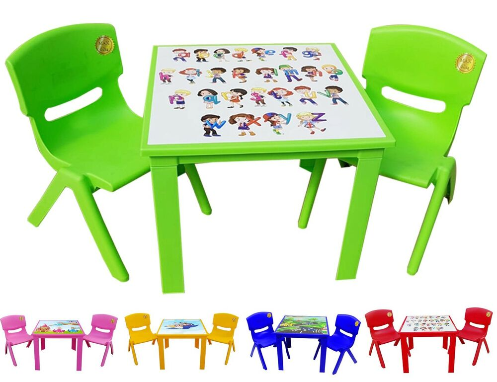 Childrens Kids Plastic Table And Chairs Nursery Sets