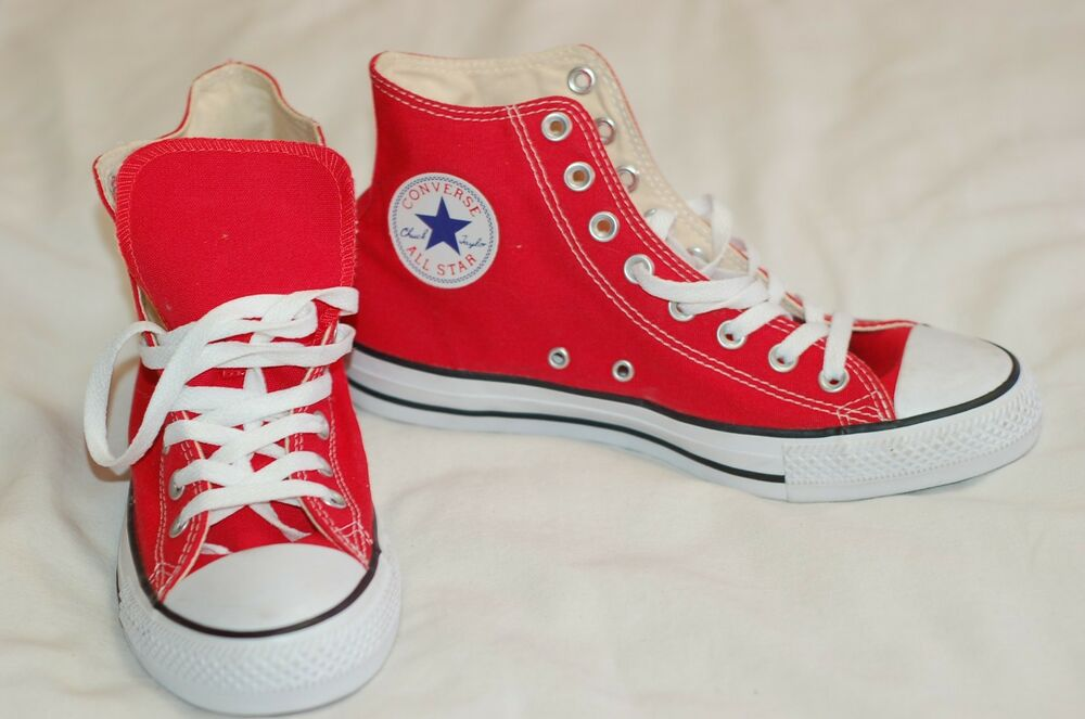 871e549daec3 Details about Converse All Star Red New Ankle Canvas Sneakers Size Men 8  Women 10 Lace Up