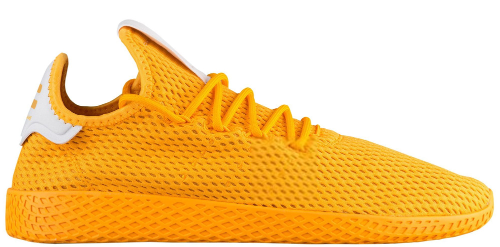9d762f44ca0af Details about adidas Mens Pharrell Williams Tennis HU Athletic Shoe Yellow  Monochrome CP9767