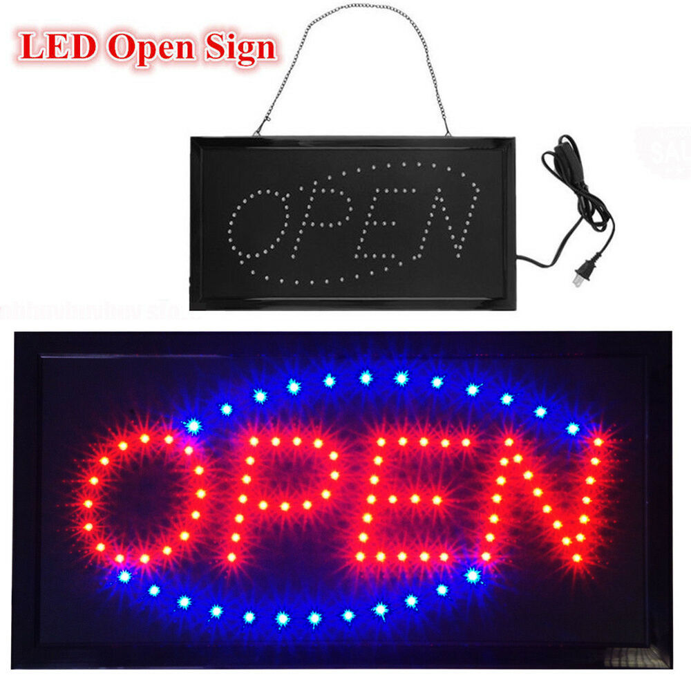 Details about animated motion running led business open sign on off switch bright light us