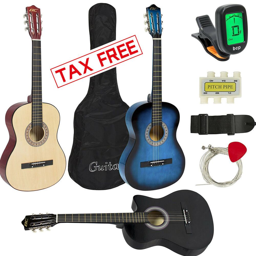 mini acoustic guitar kids small travel children beginners youth string with case ebay. Black Bedroom Furniture Sets. Home Design Ideas