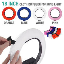 4-Color Ring Light Portable Photo Video Diffuser Cloth Kit for 18