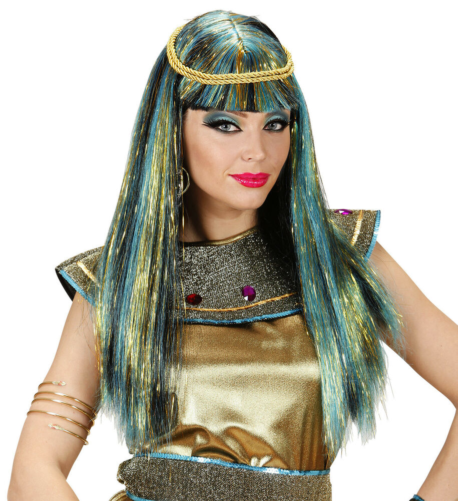 Details about Ladies Cleopatra Wig Long Straight Egyptian Fancy Dress  Costume Deluxe Hair NEW d2218191b