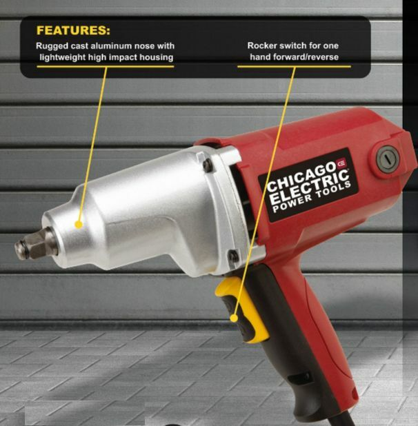 Details About 1 2 In Heavy Duty Electric Impact Wrench Plus Free Gift