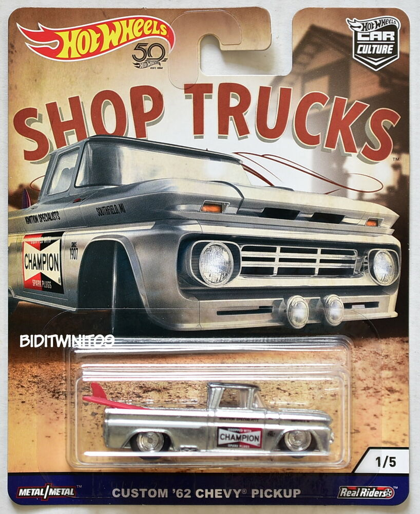 hot wheels 2018 car culture shop trucks custom 39 62 chevy. Black Bedroom Furniture Sets. Home Design Ideas