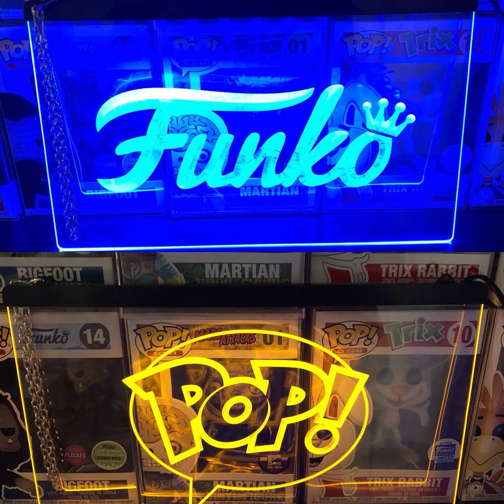 2 Funko Pop Led Neon Acrylic Signs Display Vaulted Limited Edition Action Figure Ebay