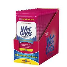 Wet Ones Antibacterial Hand Wipes, 20 Count (Pack Of 10) - SAME DAY FREE SHIP