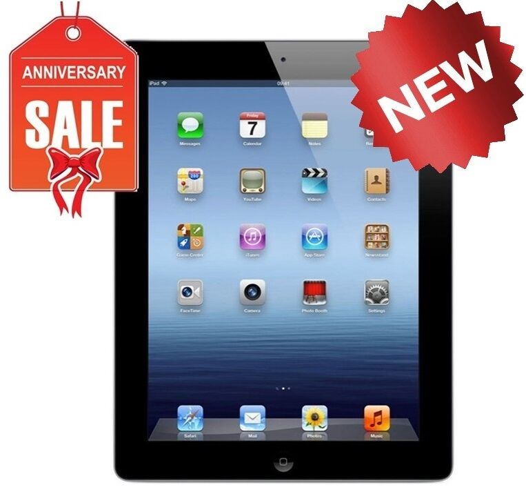 new apple ipad 4th generation with retina display 16gb wi fi black ebay. Black Bedroom Furniture Sets. Home Design Ideas
