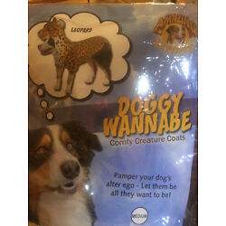 DOGGY ''WANNABE'' (LEPOARD COAT)--Size M ADORABLE NEW IN BAG