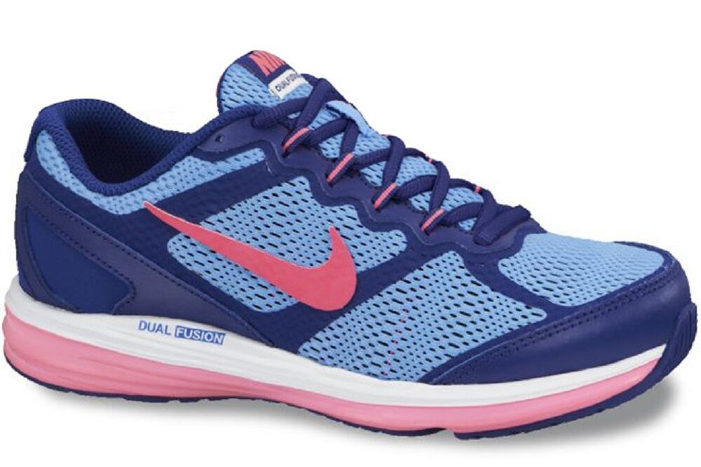 4cfa60c865a Nike Kids Girls Dual Fusion Run 3 (Big Kid) Deep Ryl Bl White Pink 6 US  38.5 EUR 885178245626