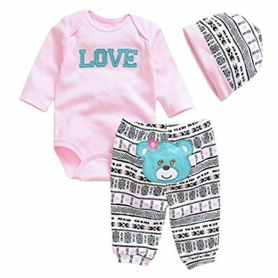 258a67094d2 Details about 22 Inch Baby Doll Clothes For Reborn Girl Kids Toy Cute Winter  Cotton Suit Set