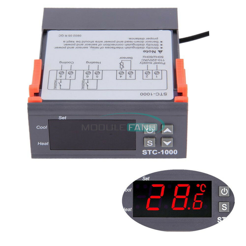 s l1000 digital stc 1000 all purpose temperature controller thermostat with