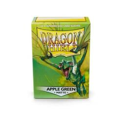 Matte Apple Green 100 ct Dragon Shield Sleeves Standard FREE SHIPPING 10% OFF 2+