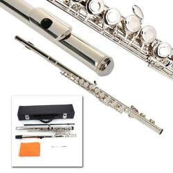 New High Quality Silver Plated 16 Closed Holes C with E Key Flute