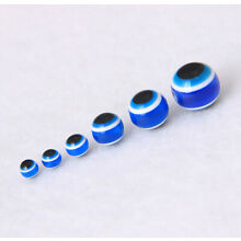 4,5,6,8,10,12mm Stripe Round Acrylic Evil Eye Loose Spacer Beads Jewelry Making
