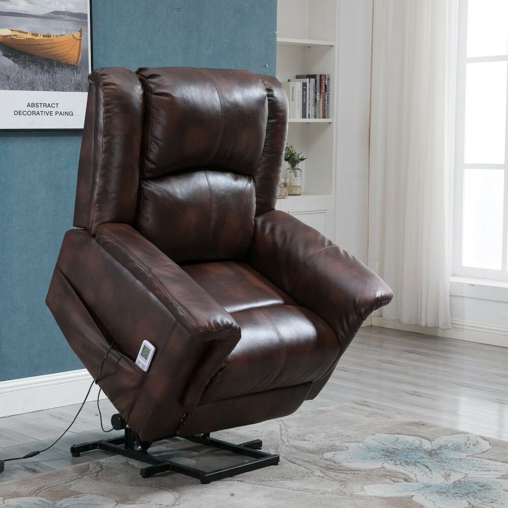 Esright Power Lift Chair Recliner For Elderly Heated Vibrating With