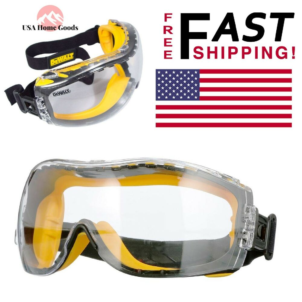 4c8bfbfdaff Details about Safety Goggles Concealer Clear Anti-Fog Lens Protective Work Eye  Glasses