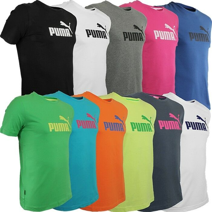 81c130c66b6 Details about Puma Large No. 1 men's T-Shirt basic with logo 8 colors  casual shirt sport NEW