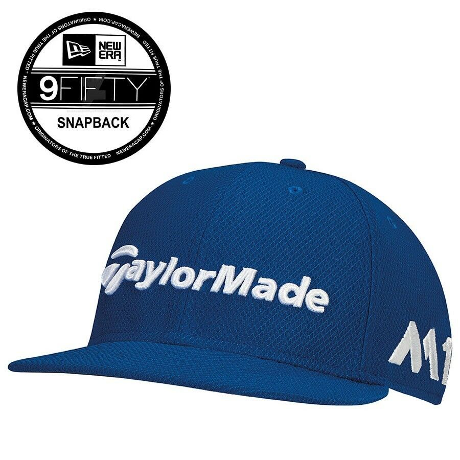ec2bc24ce2e Details about TaylorMade New Era Tour 9Fifty Snapback Hat M1 TP5 Azure Blue  - New
