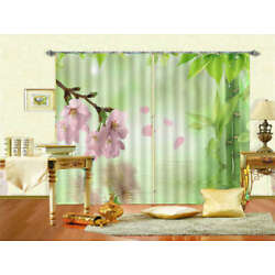 Reflecte Flower Water 3D Curtains Blockout Photo Printing Curtains Drape Fabric