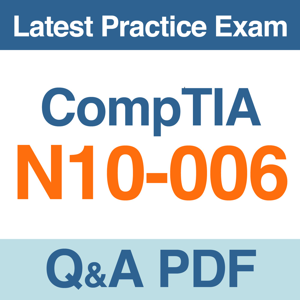Comptia Network Certification Practice Test N10 006 Exam Qa Pdf Ebay