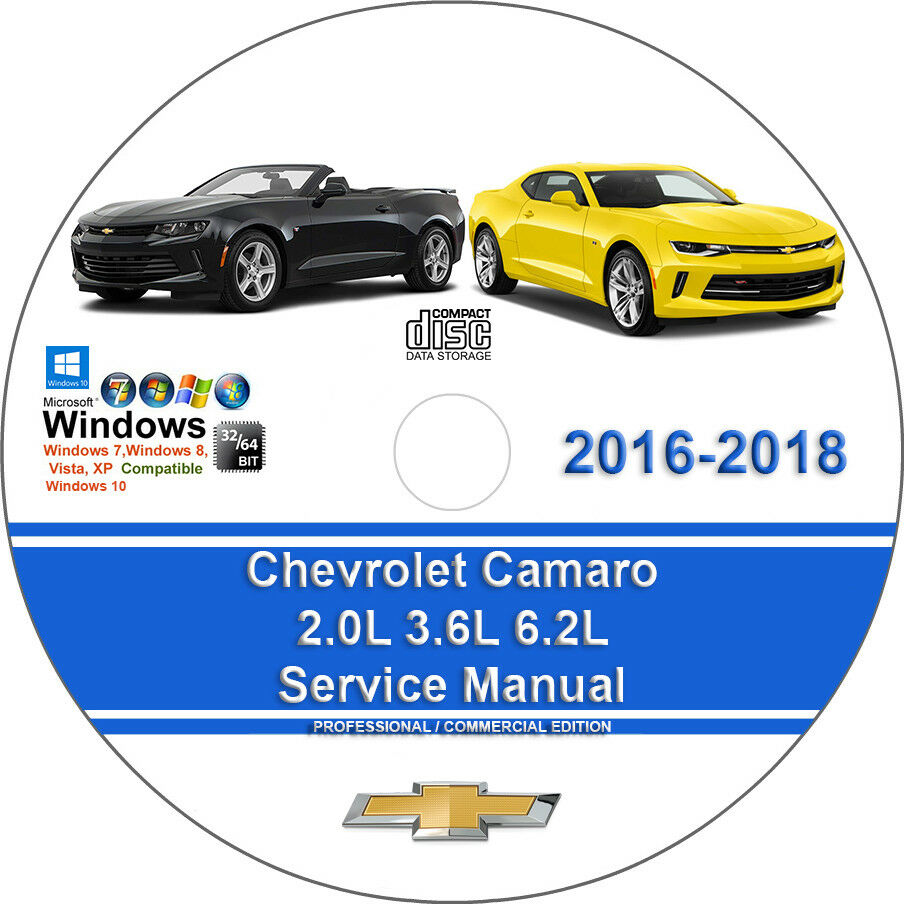 Chevrolet Camaro 2016-2018 2.0L 3.6L 6.2L Factory Workshop Service Repair  Manual | eBay