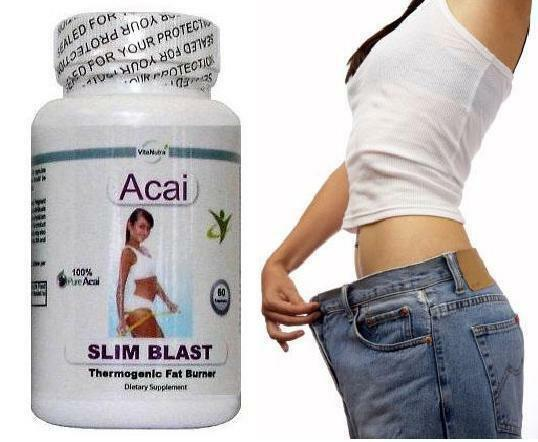 Acai Berry Slim Blast Fat Burner Diet Pills Weight Loss Slimming Tablets T5