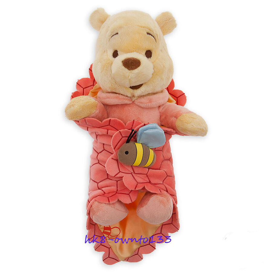 4ecc52b5cf90 Details about Baby Pooh Bear Plush Doll with Blanket Winnie the Pooh Soft  Toy 10