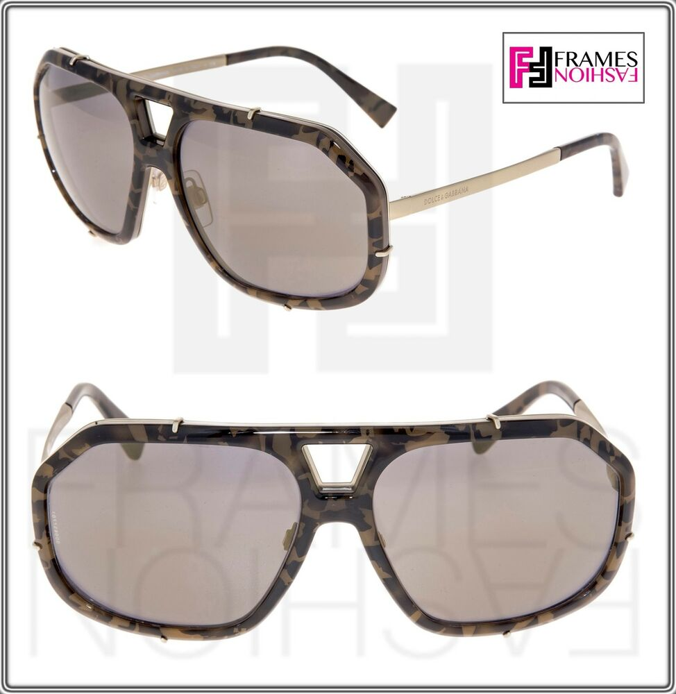 2559380f53 Details about dolce gabbana griffe camo green olive frost mirror sunglasses  jpg 974x1000 Olive mirrored aviators