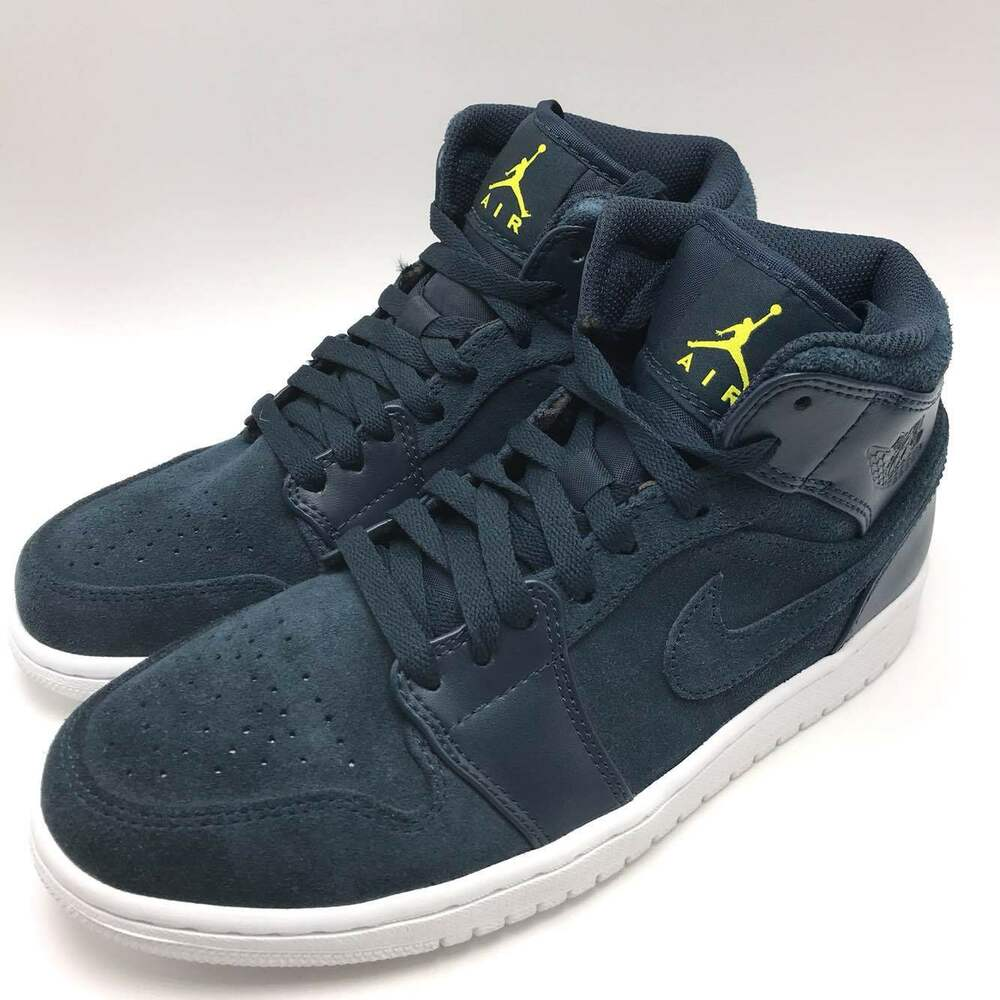 low priced af3e3 ace82 Details about Nike Air Jordan 1 MID Men s Basketball Shoes Armory  Navy White 554724-421