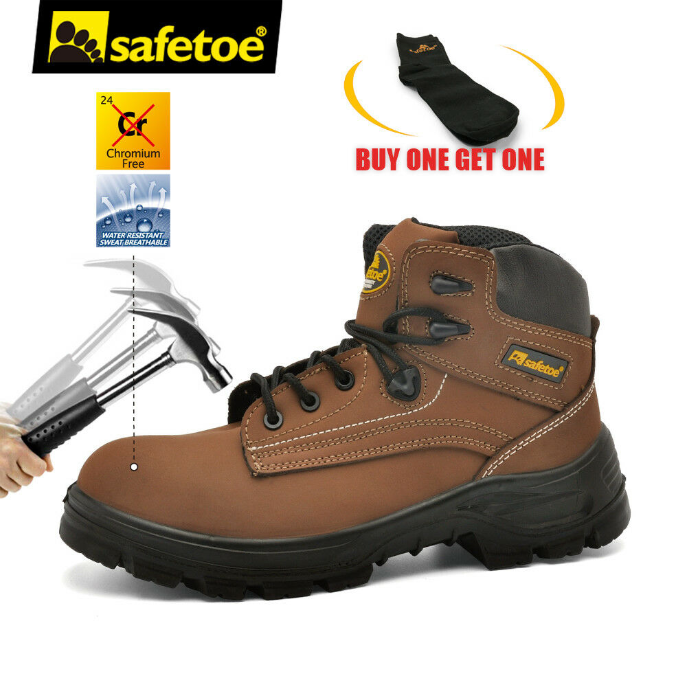 1c5679c94ea Details about Safetoe Safety Boots Mens Work Shoes Extra Wide Steel Toe  Breathable AU 2 - 13