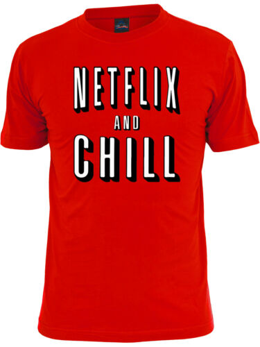 🔥 Netflix and Chill Unisex T Shirt Funny binge watching Chilling Day off Shirt