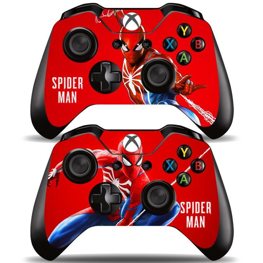 Spider-man Microsoft Xbox One X Console Controller Skin Cover Sticker Decal Video Games & Consoles