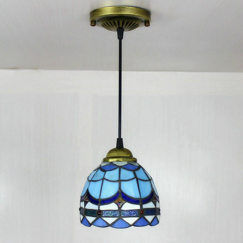 Details About Mediterranean Sea Pendant Light Tiffany Style Stained Gl Ceiling Lamp Fixture