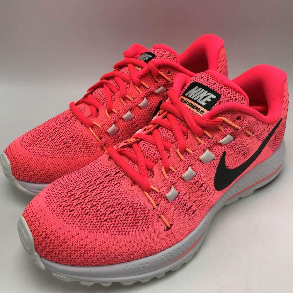 Details about Nike Air Zoom Vomero 12 Women s Shoes Lava Glow Black-Racer  Pink 863766-601 f0e3311ba