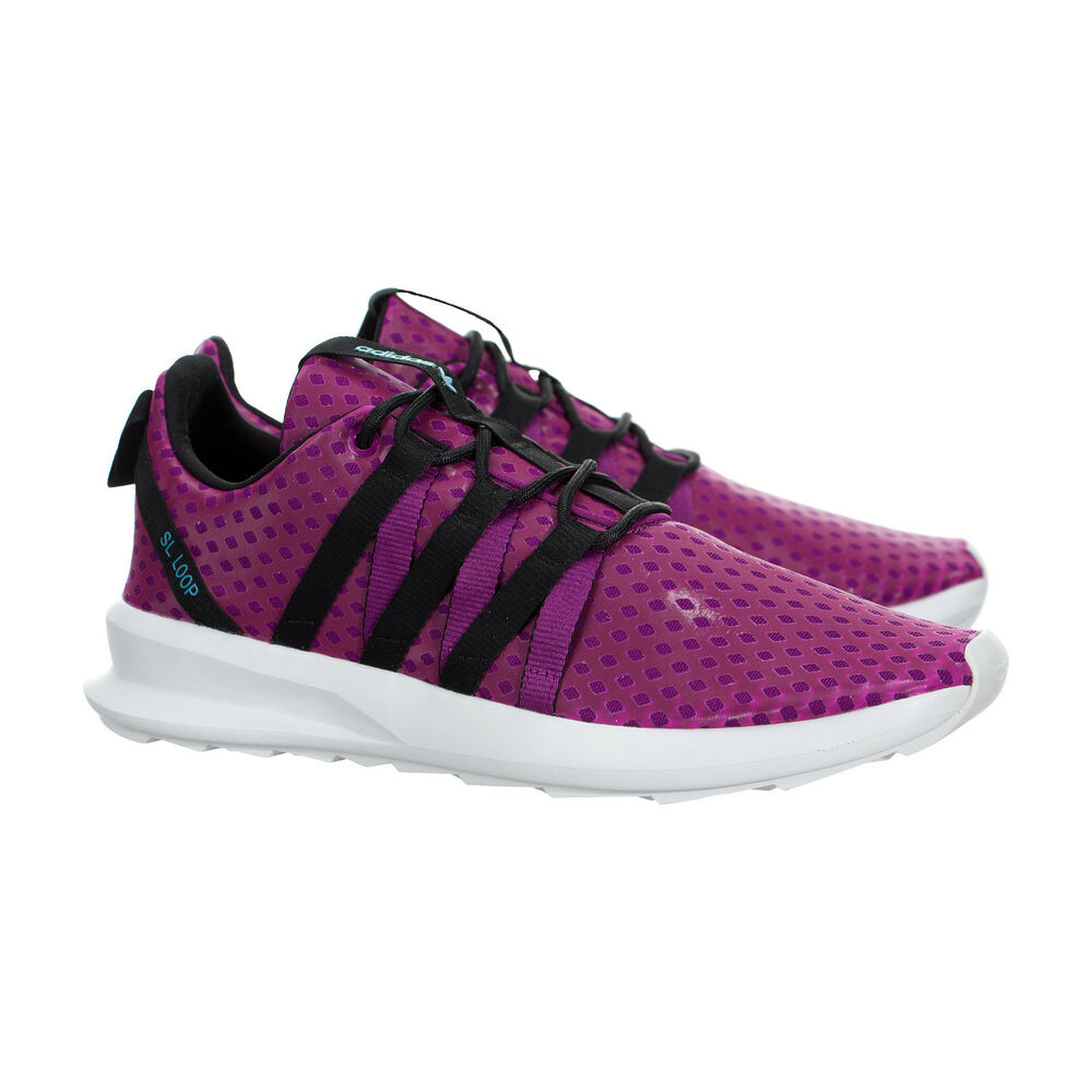 huge selection of 23c59 52081 ADIDAS SL LOOP CT BERRY BLACK WHITE SIZE 10.5 RUNNING TRAINING SHOES .