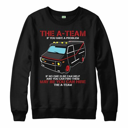 img-The A-Team Van Jumper Funny 80's TV Show Jumper Mr-T Adult & Kids Jumper Top